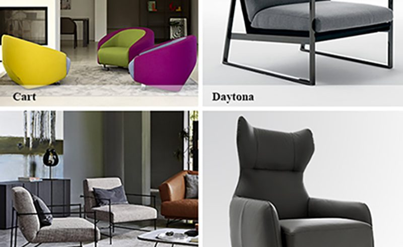 Ditre Italia launches a preview of The New Catalogue 2016 armchairs