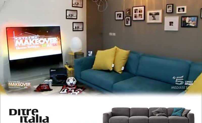 Scopri il Divano blu e i Pouf gialli Ditre Italia nella seconda Puntata di Extreme Makeover Home Edition!
